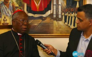 Cardinal Arinze and to Life Site News