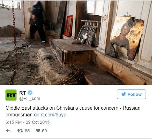 Russia concerns about persecution of Christians in Syria