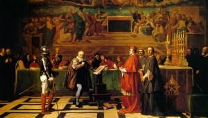 Galileo Galilei Inkvisitsiooni ees - J-N Robert-Fleury maal
