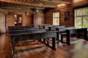 Palamuse kihelkonnakooli klassiruum